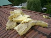 Roof - Water damaged insulation